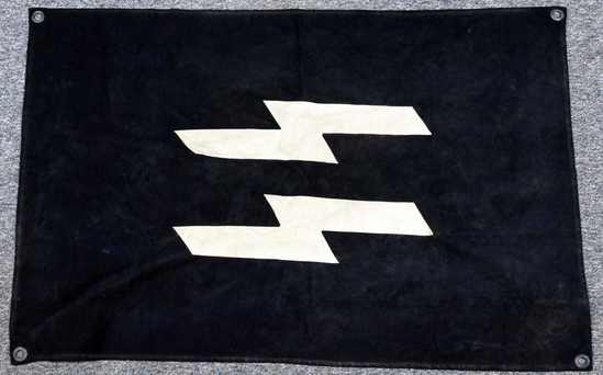WWII GERMAN WAFFEN SS MILITARY VEHICLE ID FLAG