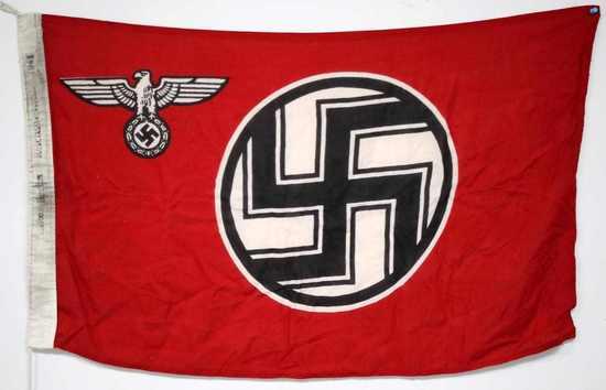 WWII GERMAN THIRD REICH WAR SERVICE FLAG