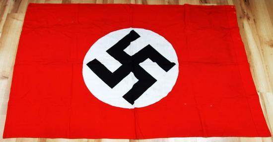 WWII GERMAN THIRD REICH NSDAP STANDARD PARADE FLAG