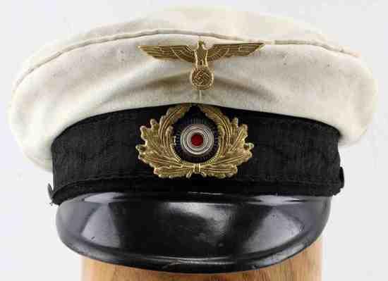 WWII GERMAN THIRD REICH KRIEGSMARINE NCO VISOR CAP