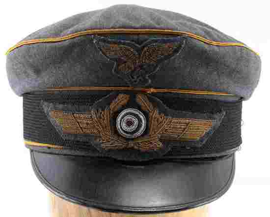 WWII GERMAN THIRD REICH LUFTWAFFE VISOR CAP