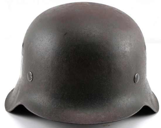 WWII GERMAN THIRD REICH SS SINGLE D M-42 HELMET