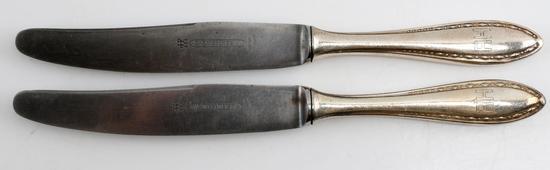 ADOLF HITLER WWII WELLNER MARKED SILVERPLATE KNIFE