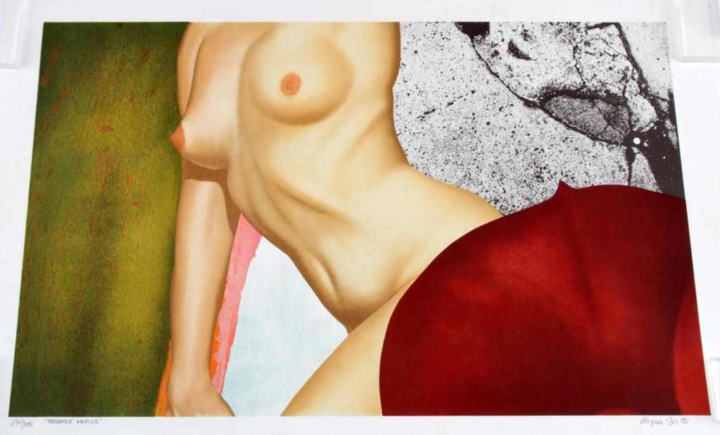 NUMBERED AND SIGNED NUDE WOMAN PRINT