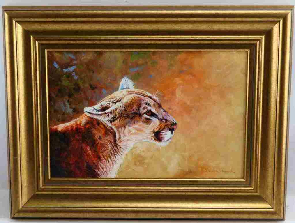 DHARBINDER BAMRAH WILDLIFE PAINTING MOUNTAIN LION
