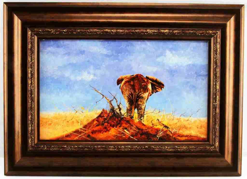 DHARBINDER S BAMRAH WILDLIFE PAINTING ELEPHANT