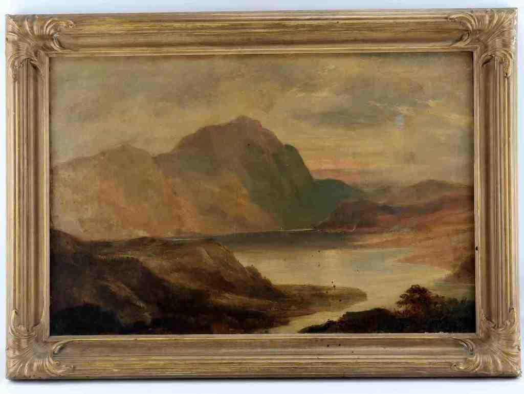 SIDNEY RICHARD PERCY 19TH C MOUNTAIN LANDSCAPE