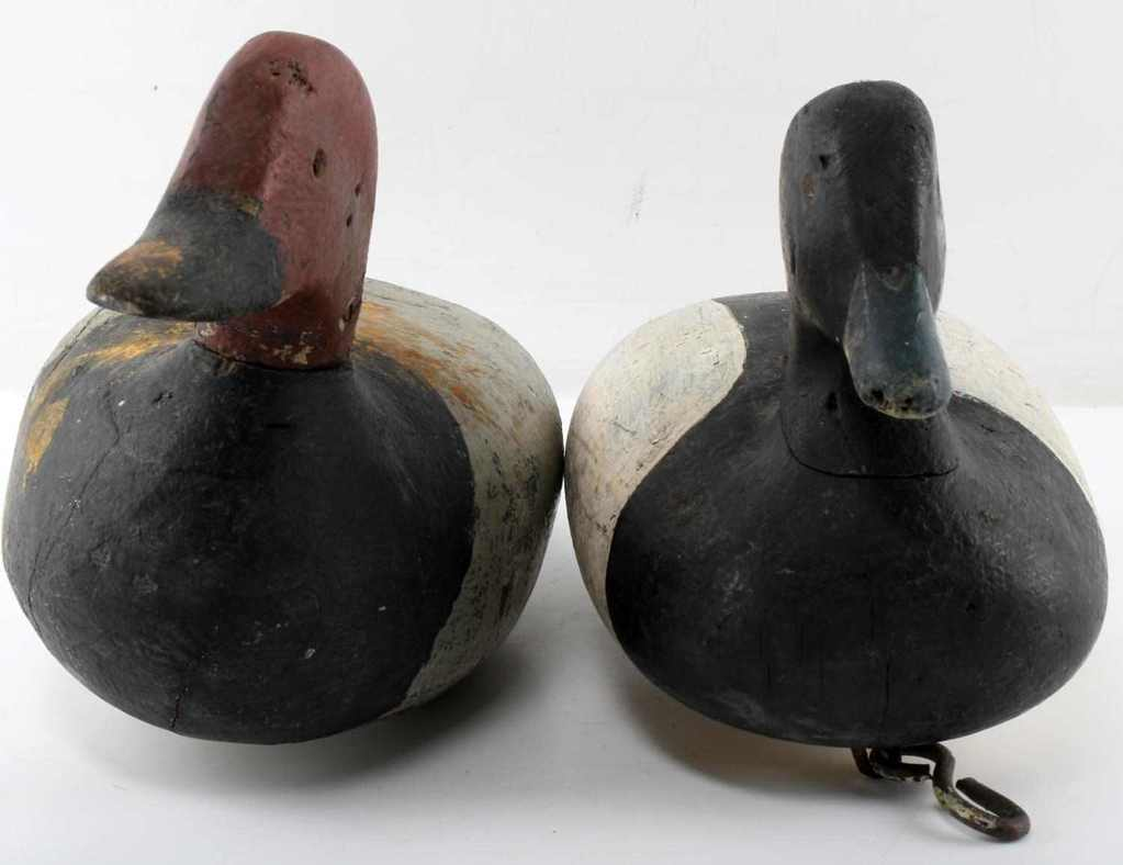 2 ANTIQUE HAND CARVED WOOD DUCK DECOY LOT