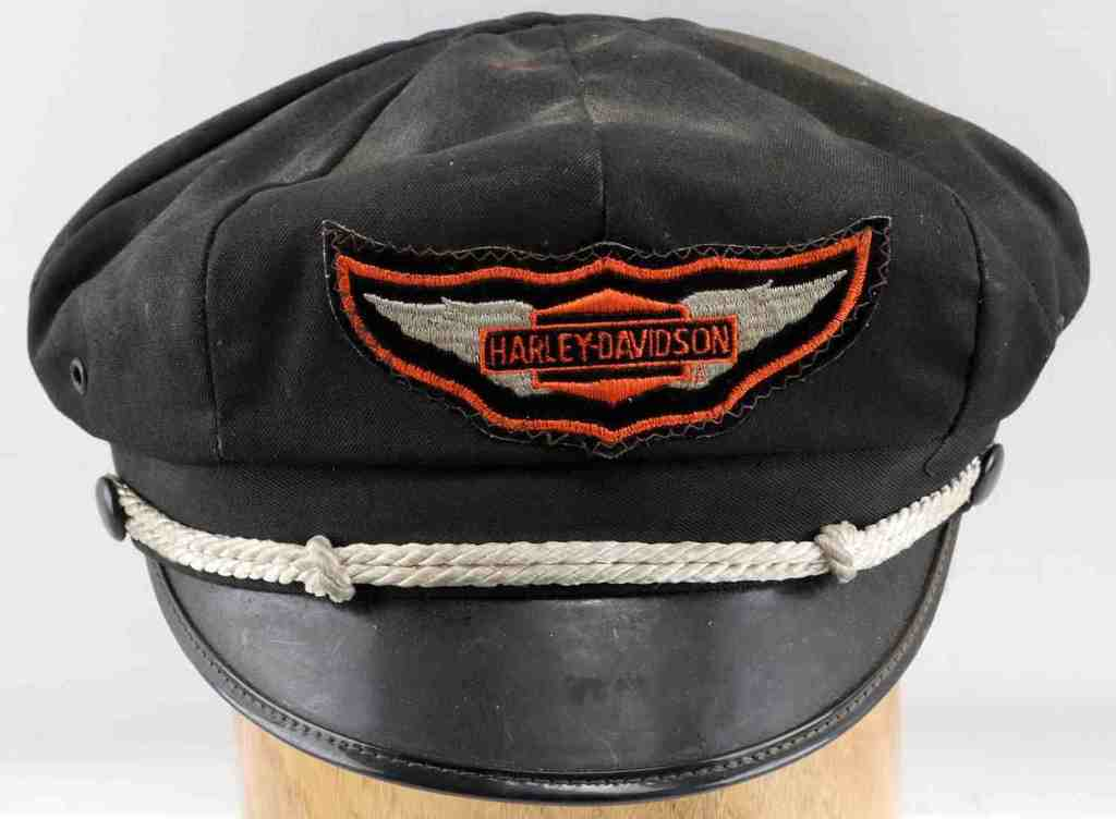 VINTAGE BROWN BILLED HARLEY-DAVIDSON CAPTAINS HAT