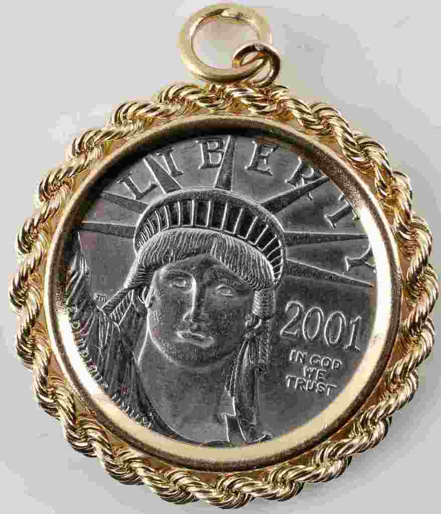 2001 PLATINUM EAGLE .25 OZ $25 UNCIRCULATED COIN