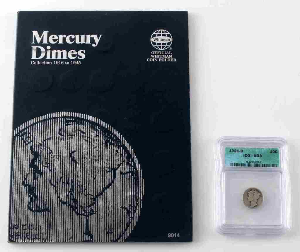 MERCURY DIME COMPLETE SET LESS 1916D 1916 TO 1945