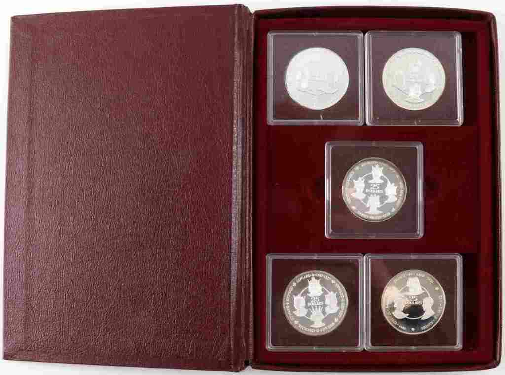 CAYMAN ISLANDS SILVER KINGS COLLECTION 1980 COINS