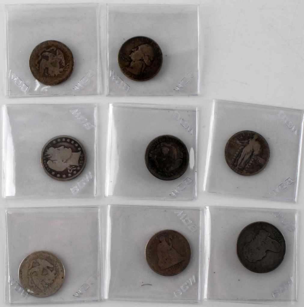 US QUARTER TYPE SET 1825 CAPPED BUST SEATED & MORE