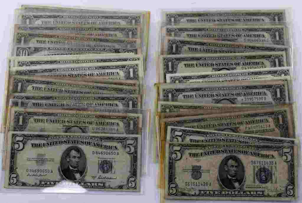 $52 FACE VALUE SILVER CERTIFICATE BANKNOTES STAR