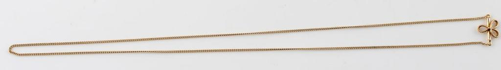 GOLD JABEL CHAIN NECKLACE OPEN BOW CLASP