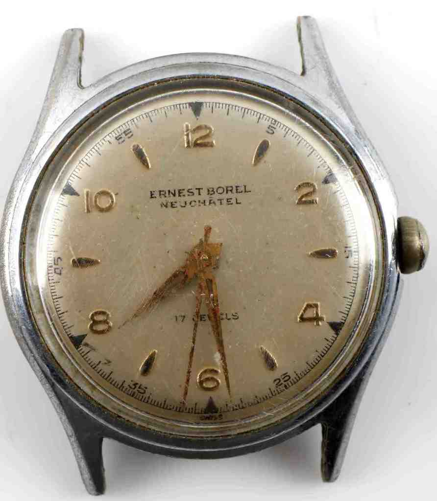 ANTIQUE SWISS AUTOMATIC ERNEST BOREL MENS WATCH
