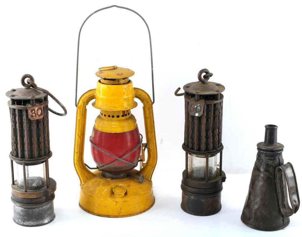 4 MINER & SANITARY COMMISSION LANTERN & LAMPS WOLF
