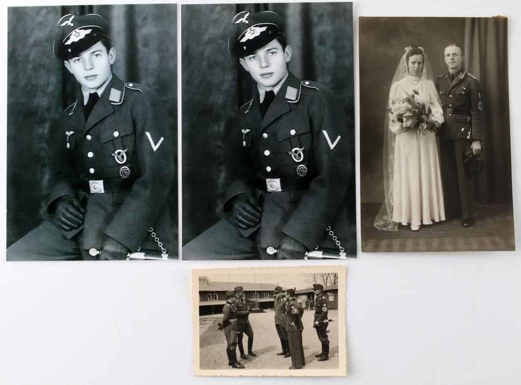 3 THIRD REICH GERMAN PHOTOS RAD EM LUFTWAFFE 1ST
