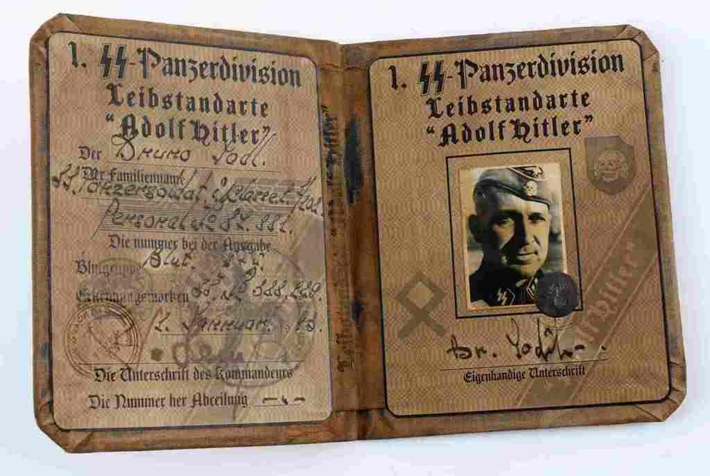 WWII THIRD REICH GERMAN PANZER DIVISION SS ID BOOK