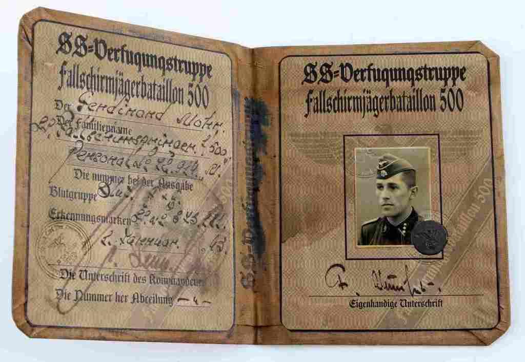 WWII THIRD REICH GERMAN SS VERFUGUNGSTRUPPE ID