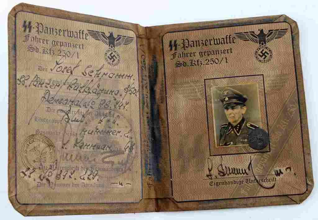 WWII THIRD REICH GERMAN SS PANZERWAFFE ID BOOKLET