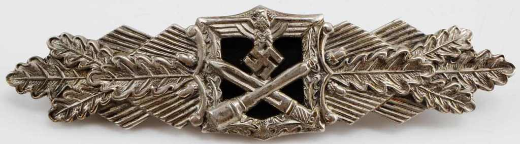 WWII GERMAN THIRD REICH CLOSE COMBAT CLASP SILVER