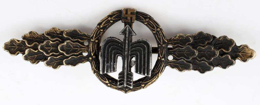 WWII GERMAN LUFTWAFFE DAY FIGHTER CLASP IN GOLD