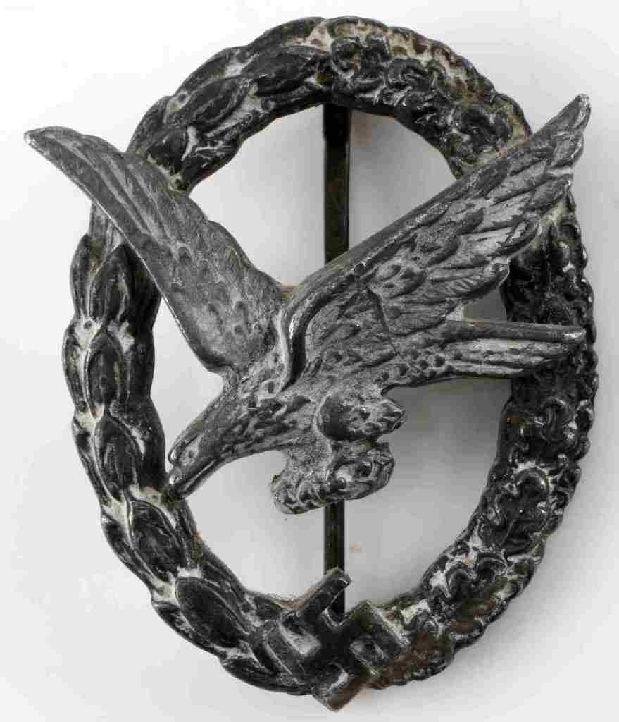 WWII GERMAN LUFTWAFFE AIR GUNNER & ENGINEERS BADGE