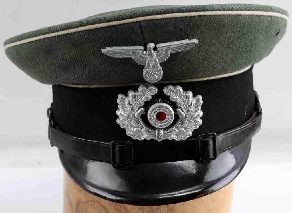 GERMAN WWII THIRD REICH OFFICER VISOR CAP