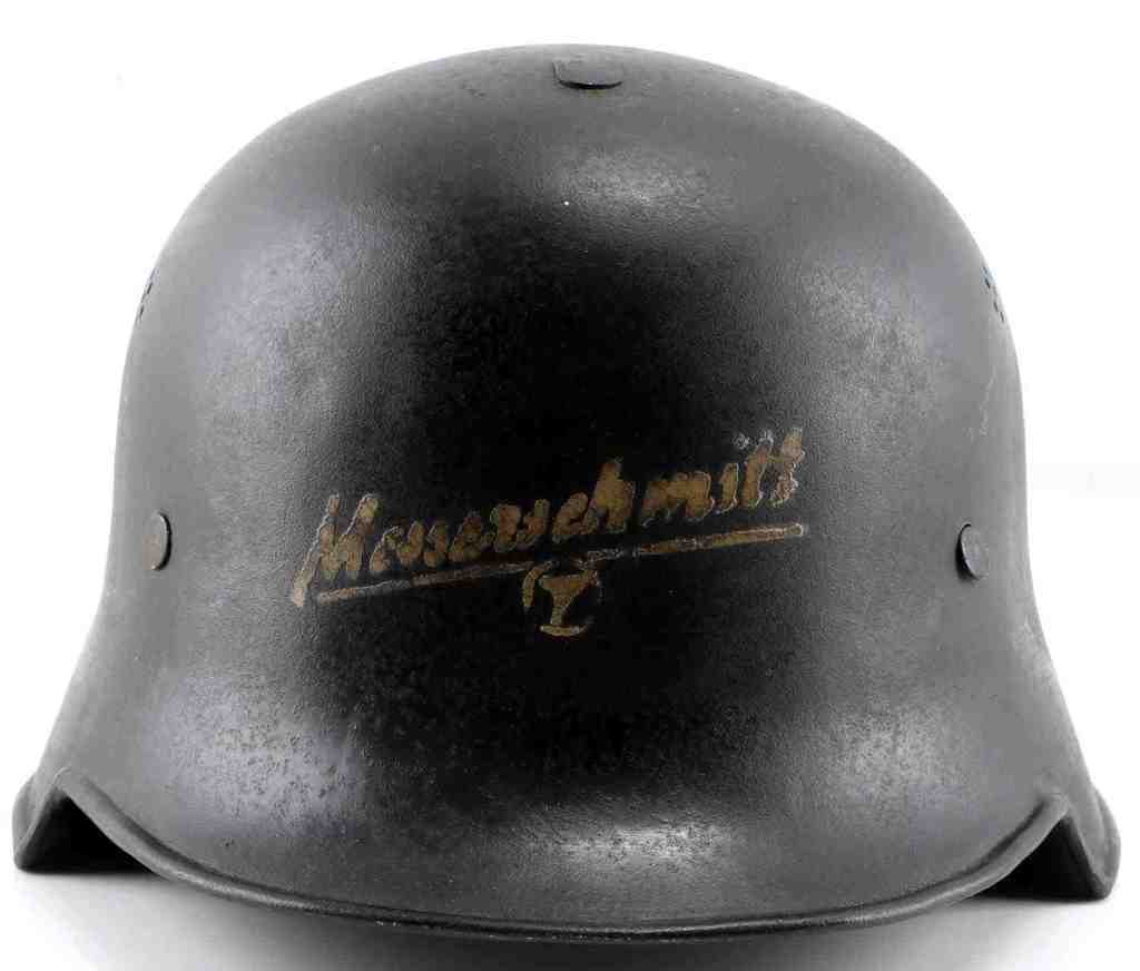 WWII GERMAN MESSERSCHMITT FACTORY GUARD HELMET