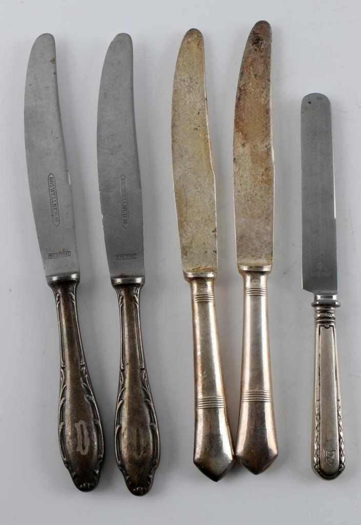 LOT HERMANN GORING SILVERWARE KNIVES & HOTEL SET