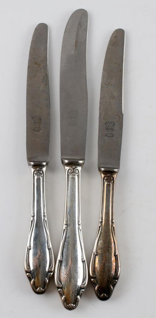 THIRD REICH REINHARD HEYDRICH SILVERPLATE KNIVES