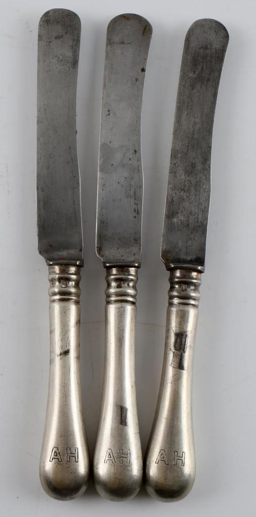 ADOLF HITLER THIRD REICH WWII SILVERWARE KNIVES