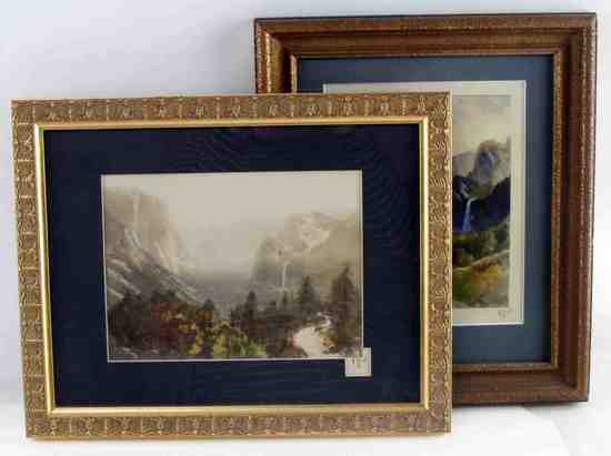 TWO FRAMED H C BEST COLORED YOSEMITE PHOTOGRAPHS
