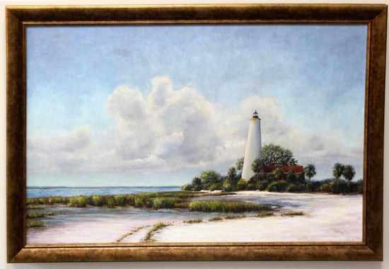 PAM TALLEY ST. MARKS LIGHTHOUSE OIL ON CANVAS