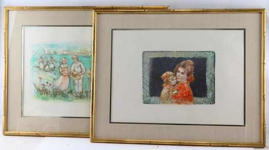 2 LIMITED EDITION EDNA HIBEL SIGNED LITHOGRAPHS