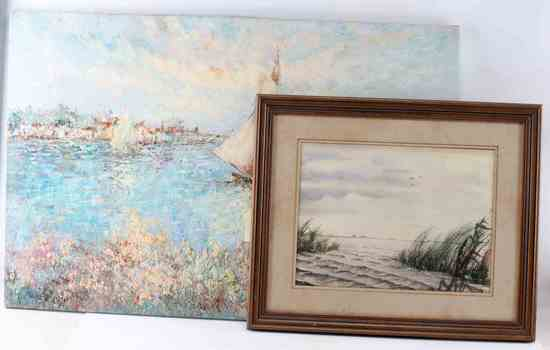 SEASCAPE WATERCOLOR & IMPRESSIONISTIC OCEAN