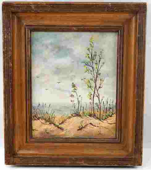PAINTING OF WARREN DUNES MICHIGAN LANDSCAPE CRAIG