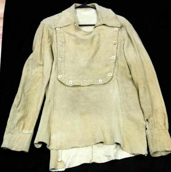 ANTIQUE MOUNTAIN MAN BRAIN TANNED SUEDE TUNIC