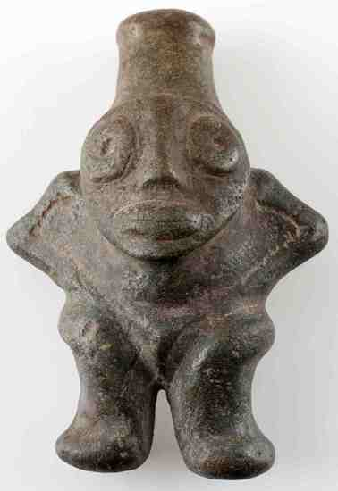 TAINO FIGURAL ANTHROPIC COHOBA SNUFFER 2ND TYPE