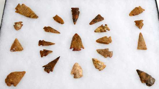 NATIVE AMERICAN GROUND FIND ARROWHEAD LOT OF 20