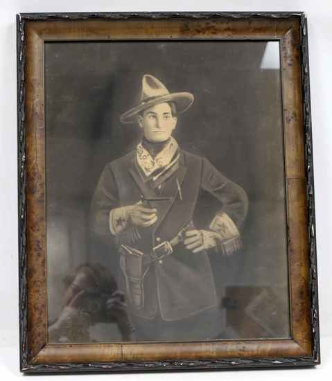 FRAMED DRAWING OF WESTERN STAR TOM MIX