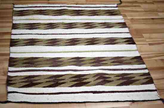 VERY NICE LARGE NAVAJO BLANKET WEAVE RUG