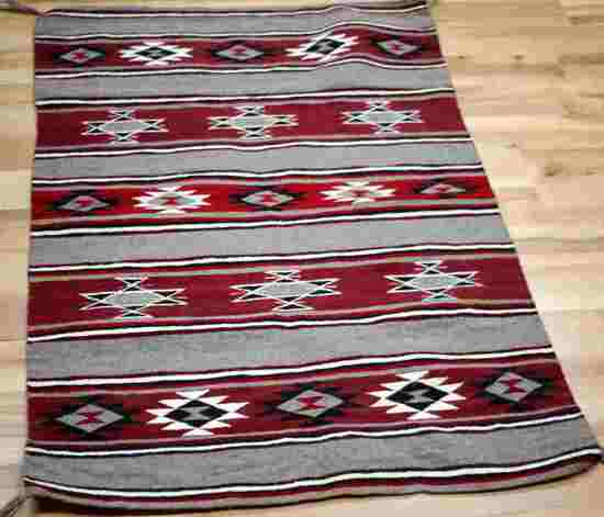 NAVAJO ANTIQUE GANADO BLANKET WEAVE RUG