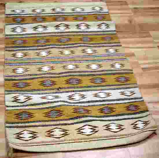 NICE NAVAJO BLANKET OF GEOMETRIC ALTERNATING BANDS