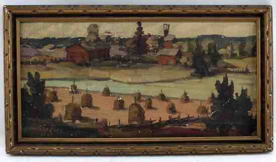 OIL ON CANVAS WEIKKO PURO LANDSCAPE PAINTING
