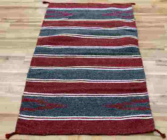DOUBLE SIDED NAVAJO STRIPED SADDLE BLANKET