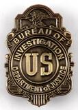 OBSOLETE US BUREAU OF INVESTIGATION DOJ BADGE