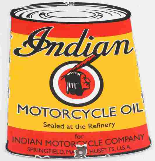 INDIAN MOTORCYCLES COMPANY PORCELAIN SIGN