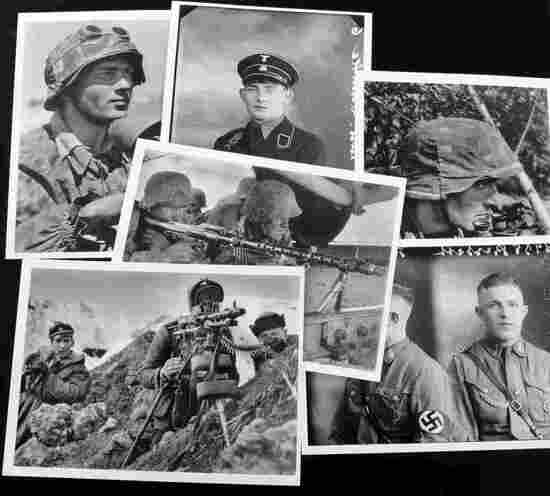 WWII GERMAN WAFFEN SS SOLDIER POST CARD LOT OF SIX
